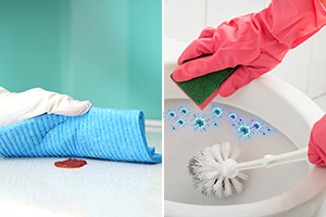 Cleaning Sauce Versus Sanitizing Toilet