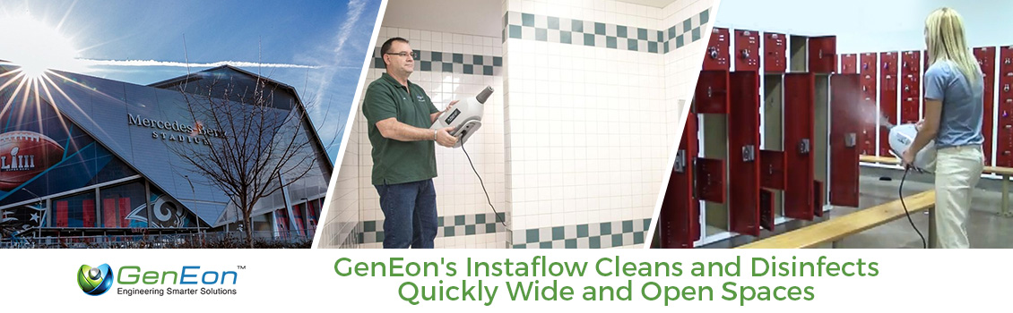 GenEon Disinfects Lockers and Restrooms of the Mercedes Benz Stadium