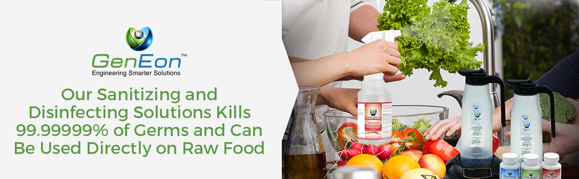 GenEon Cleans and Disinfects Fruits and Vegetables