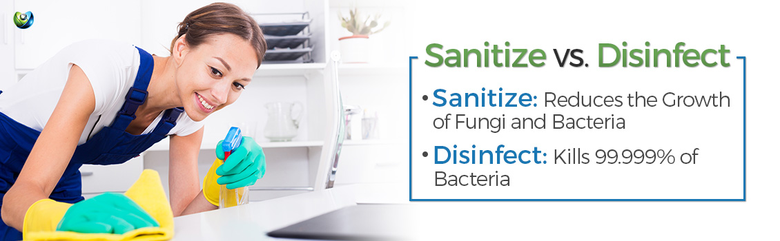 Difference Between Disinfecting and Sanitizing