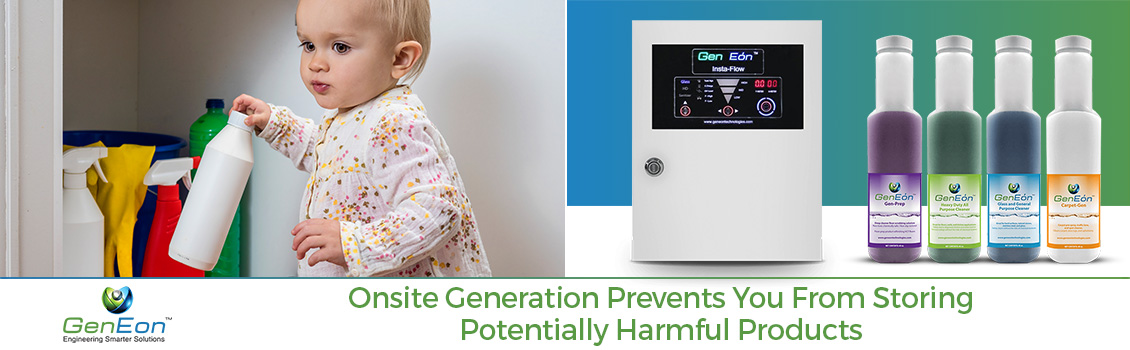 On-Site Generation Prevents You From Storing Potentially Harmful Products