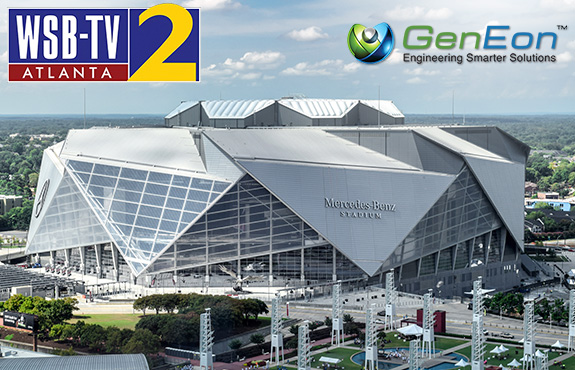 WSBTV in Atlanta Features the Mercedes Benz Stadium Using GenEon Technologies